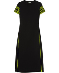 Kenzo Neon Printed Cotton Jersey Midi Dress