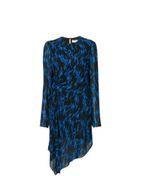 Saint Laurent Printed Asymmetric Dress