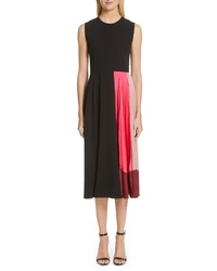 Roksanda Satin Panel Tte Midi Dress