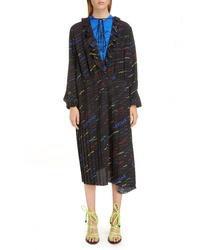 Balenciaga Stripe Ruffle Dress
