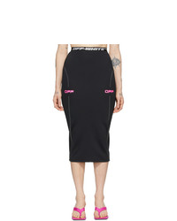 Off-White Black And Pink Off Active Pencil Skirt