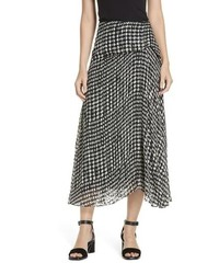 Theory Broken Oval Side Drape Midi Skirt