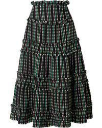 Proenza Schouler Tiered Tweed Maxi Skirt