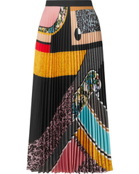 Mary Katrantzou Uni Pleated Printed Midi Skirt