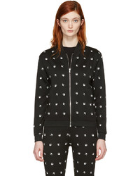 MCQ Alexander Ueen Black Swallows Bomber Jacket
