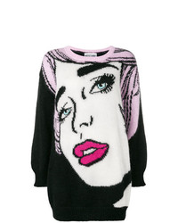 Moschino Oversized Eyes Knitted Sweater