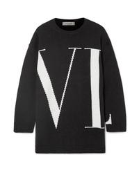 Valentino Oversized Intarsia Cashmere Sweater