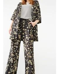 Violeta BY MANGO Floral Print Trousers