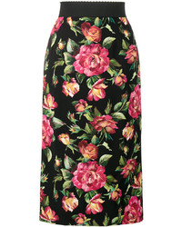 Floral print pencil skirt medium 4982653