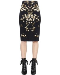 Givenchy Floral Printed Cady Pencil Skirt