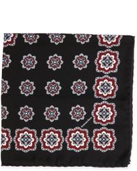 Stefano Ricci Medallion Print Handkerchief Black