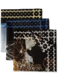 Massimo Alba Set Of 3 Cotton Pocket Squares