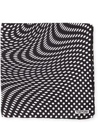 Stretch dot print pocket square black medium 592304