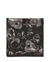 Z Zegna Printed Silk Satin Pocket Square