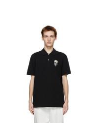 Alexander McQueen Black Skull Badge Polo