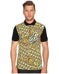 Versace Jeans All Over Baroque Tiger Print Polo