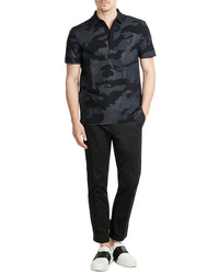 Valentino Printed Cotton Polo Shirt