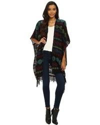 Jacquard wrap topper jacket medium 344721
