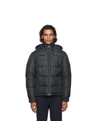 Etro Black And Grey Paisley Puffer Jacket