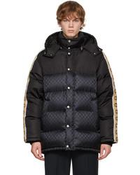 Gucci Black Down Gg Jacquard Jacket