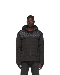 Fendi Black Down Mesh Forever Jacket