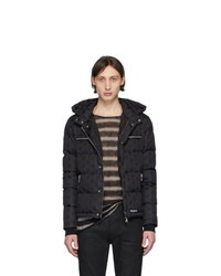 Balmain Black Down Monogram Jacket