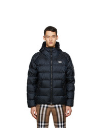Burberry Black Monogram Hooded Puffer Jacket