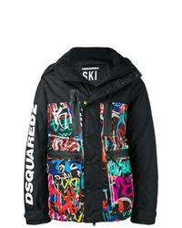 DSQUARED2 Grafitti Print Padded Jacket