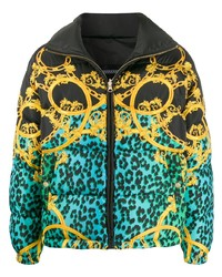 VERSACE JEANS COUTURE Multi Print Padded Jacket