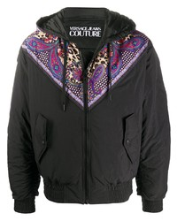 VERSACE JEANS COUTURE Paisley Print Hooded Jacket