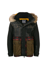 DSQUARED2 Patchwork Puffer Jacket