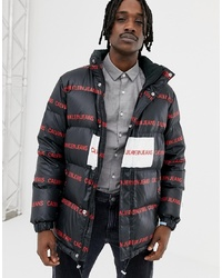Calvin Klein Jeans Puffer Jacket With All Over Black