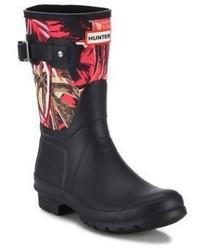 Original short jungle print canvas rubber rain boots medium 3702223