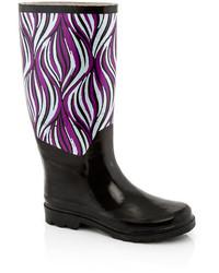 Godiva Print Solid Contrast Rain Boot