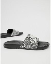 Nike Benassi Jdi Print In Black 631261 006