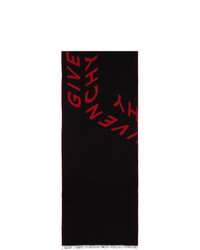 Givenchy Black And Red In A Box Scarf