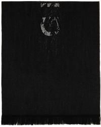 Givenchy Black Free Logo Scarf