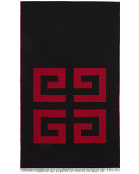 Givenchy Black Red Wool 4g Scarf