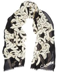 Diane von Furstenberg Chain Sparkle Printed Wool Blend Scarf