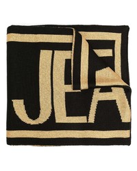 VERSACE JEANS COUTURE Intarsia Knit Logo Scarf