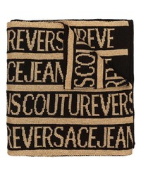 VERSACE JEANS COUTURE Long Intarsia Logo Scarf