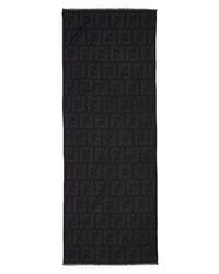 Fendi Macro Logo Wool Cashmere Blend Stole