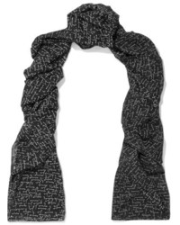 Printed wool scarf black medium 5083236