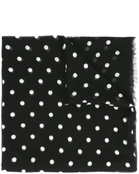 Saint Laurent Polka Dot Print Scarf