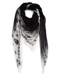 Alexander McQueen Shadowy Skull Modal Cashmere Pashmina