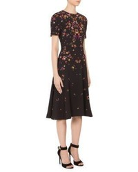 Givenchy Anna Pansy Print Cady Dress