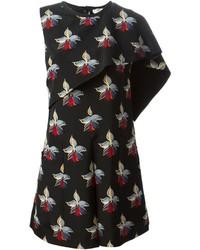 Fendi Orchid Print Asymmetric Dress