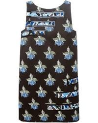 Fendi Orchid Print Dress