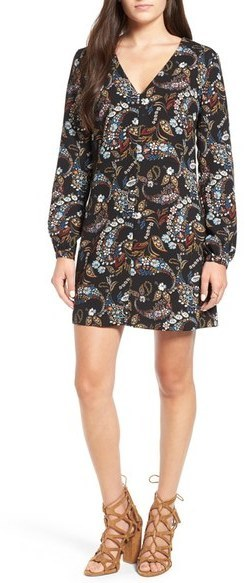 75 Wayf Hendrix Print Shift Dress