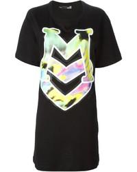 Love Moschino Logo Print T Shirt Dress